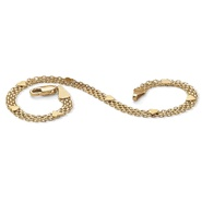 "PalmBeach Jewelry 10k Yellow Gold Bismark-Link Heart Bracelet 7 1/4"" at Sears.com"