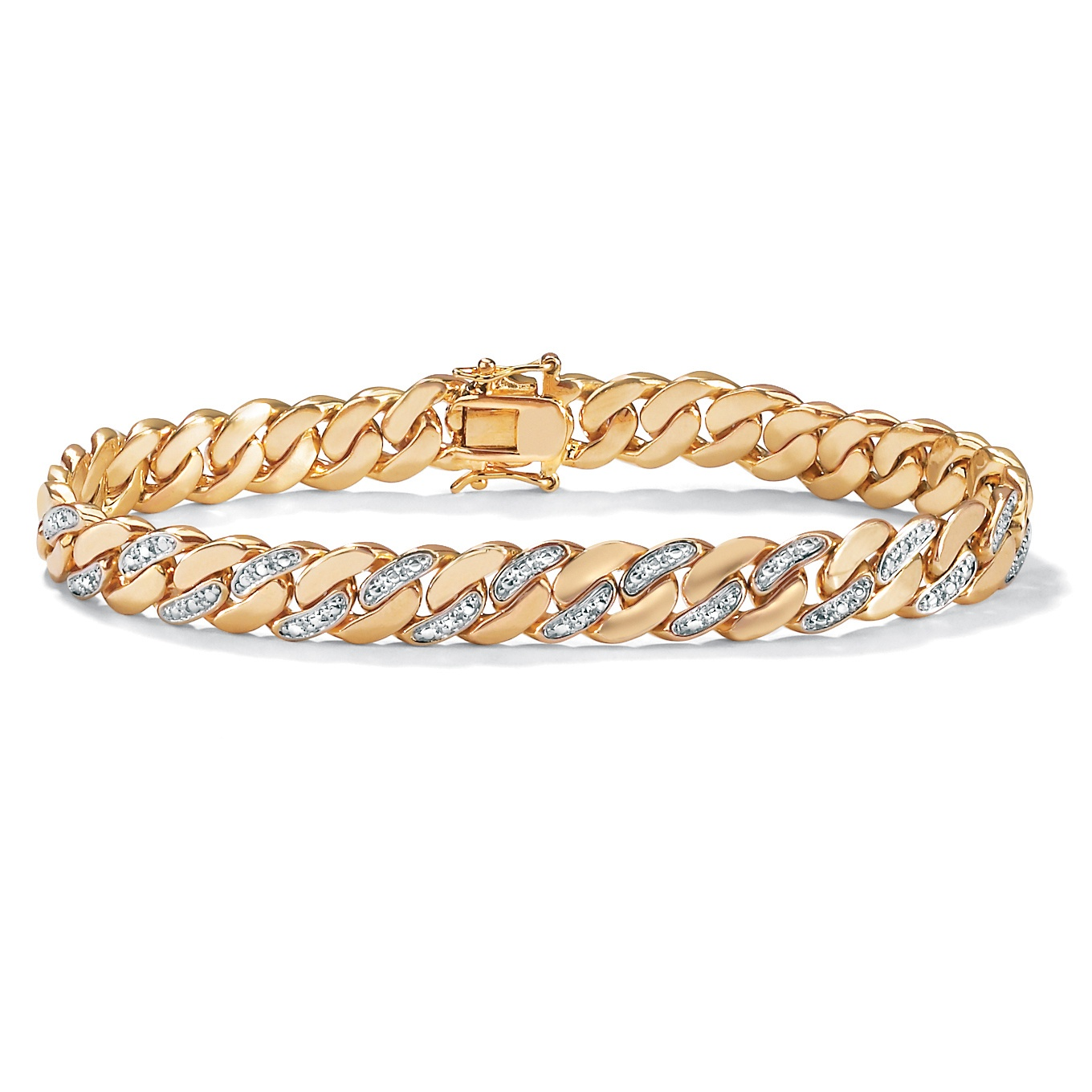 Men's Diamond Accent 14k Yellow Gold-Plated