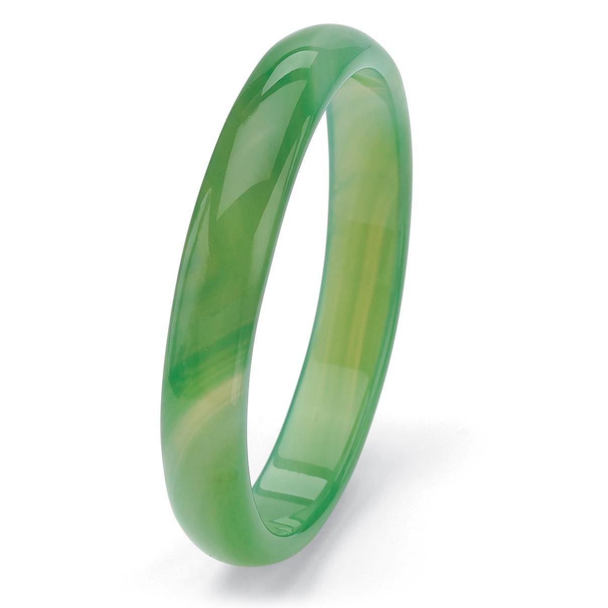 PalmBeach Jewelry Genuine Green Jade Bangle Bracelet 9