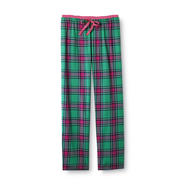 Joe Boxer Women's Flannel Sleep Pants - Green Plaid at Kmart.com