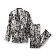 Jaclyn Smith Women's Pajama Top & Pants - Leopard Print at Kmart.com