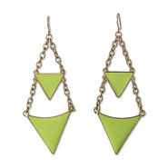 Nicki Minaj Women's Chandelier Earrings - Enamel Triangles at Kmart.com