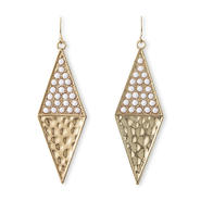 Nicki Minaj Women's Dangle Earrings - Rhinestones & Hammered Metal at Kmart.com