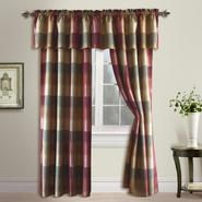 United Curtain Company Plaid trendy but tailored polyester panel in blue/green, taupe/brown & burgundy at Kmart.com