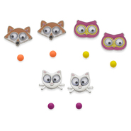 Joe Boxer Junior's 6-Pairs Stud Earrings - Animals at Kmart.com
