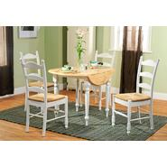 5pc Ladderback dining set in white and natural at Kmart.com