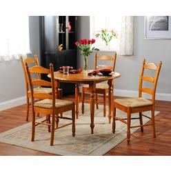 5pc Ladderback dining set in oak finish at Kmart.com