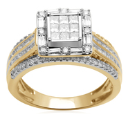 Tradition Diamond 1ct 10K Yellow Gold Certified Diamond Bridal Ring at Sears.com