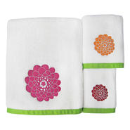 Stella Pink Bath Towel Set - Big Flowers at Sears.com
