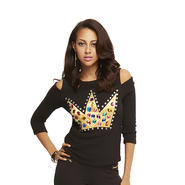 Nicki Minaj Women's Cold Shoulder Sweater - Crown at Sears.com