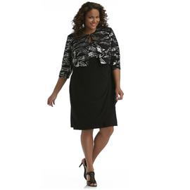 JBS Women's Plus Sequin Shrug & Draped Dress at Sears.com