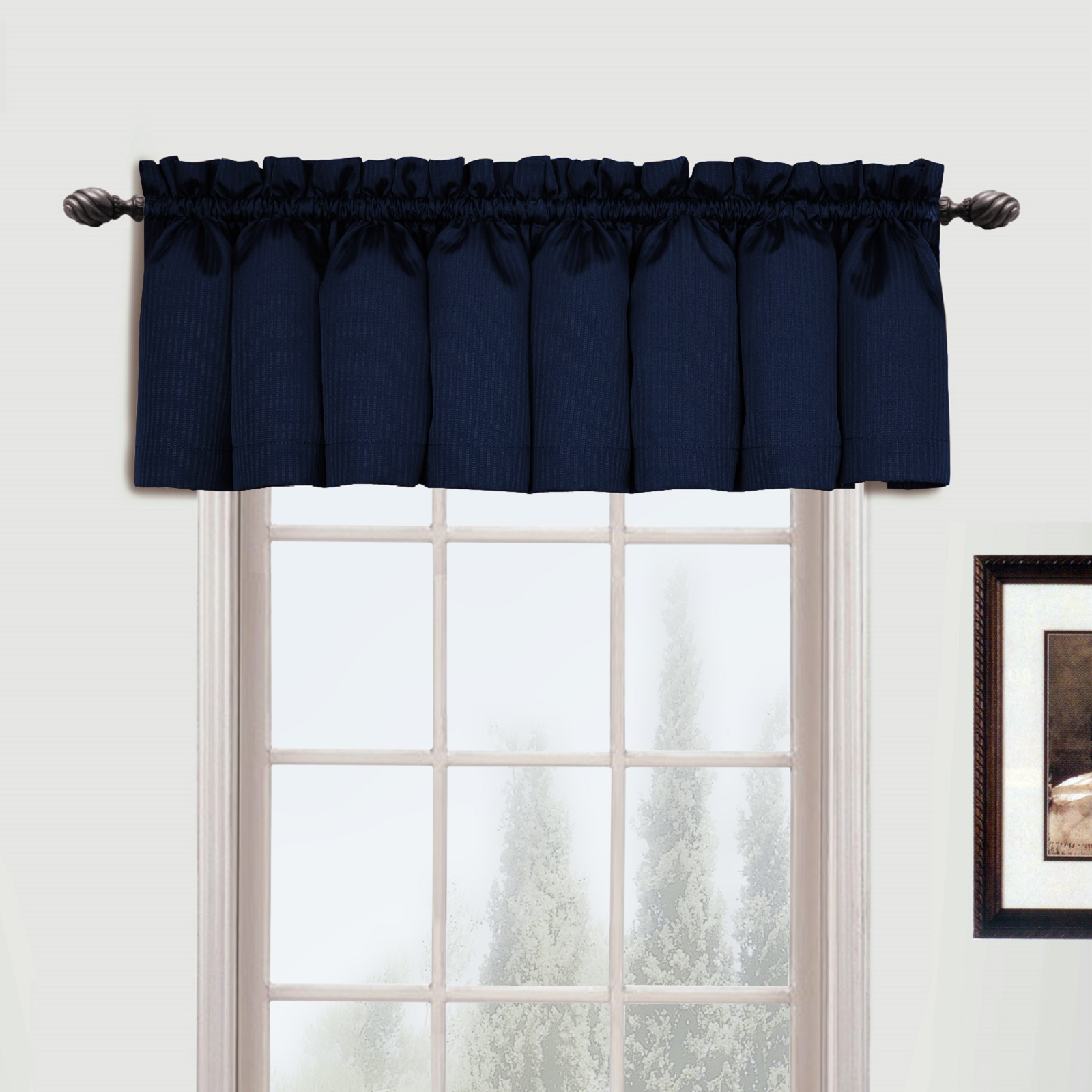 United Curtain Company Metro 54 Quot X 16 Quot Woven Vertical Tone