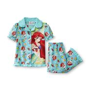 Disney Infant & Toddler Girl's Short Sleeve Pajamas - Ariel/Little Mermaid at Kmart.com