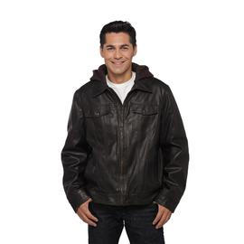 Signature by Levi Strauss & Co. Men's Faux Leather & Shearling Bomber Jacket at Kmart.com