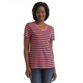 Laura Scott Women's V-Neck T-Shirt - Polka Dots & Stripes at Sears.com