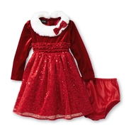 Holiday Editions Infant & Toddler Girl's Sequin Santa Dress at Kmart.com