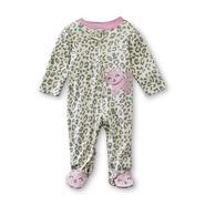 Small Wonders Newborn Girl's Long-Sleeve Sleeper - Cat Print at Kmart.com