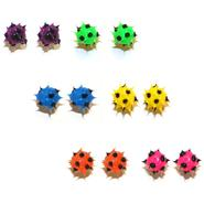 Accessories Girl's 6-Pairs Polka-Dot Spike Stud Earrings at Kmart.com
