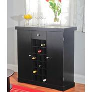 Wine cabinet in black at Kmart.com