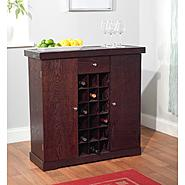 Wine cabinet in espresso at Kmart.com