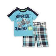 Little Rebels Infant & Toddler Boy's T-Shirt & Shorts - Motorcycle at Sears.com