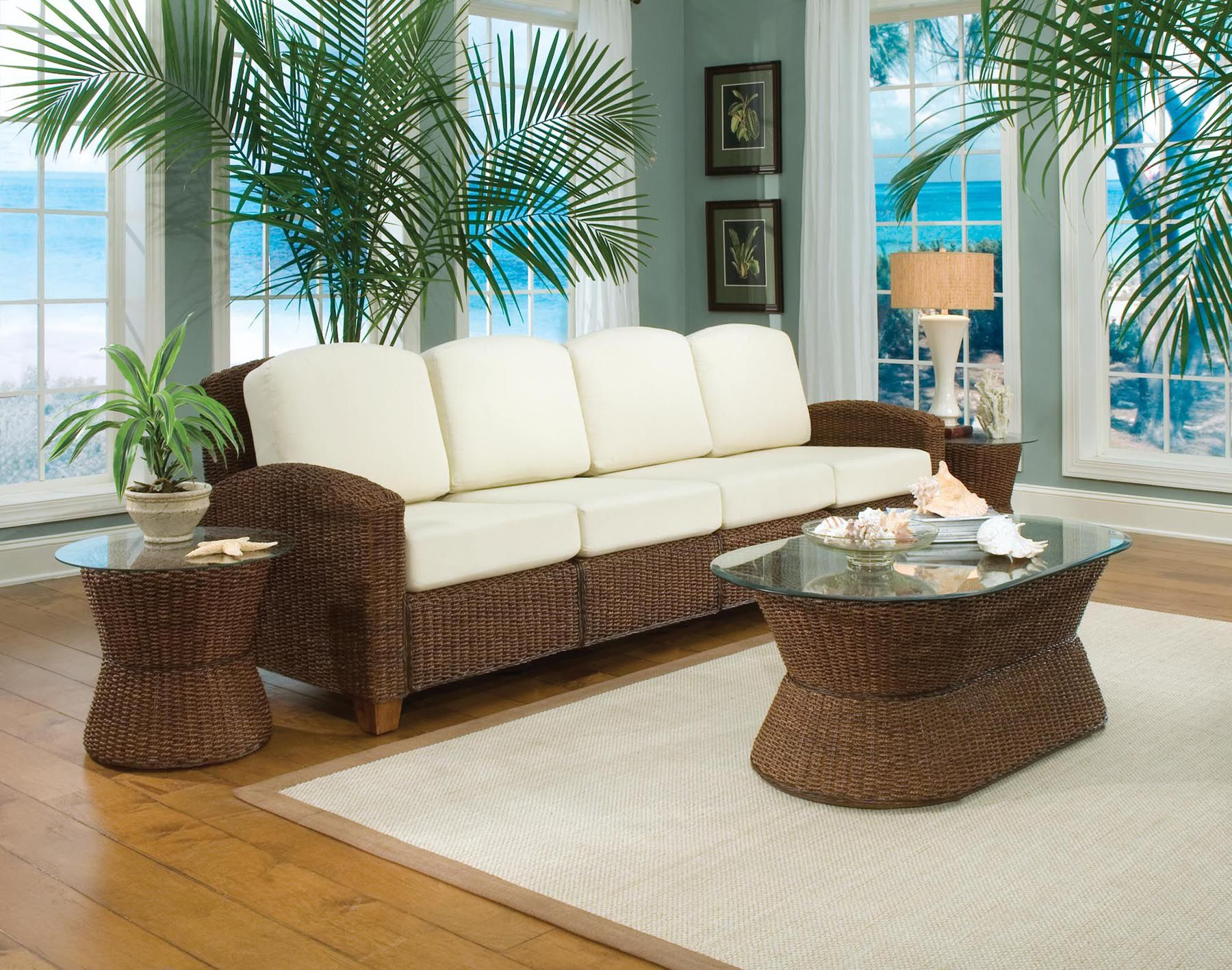 Home Styles Cabana Banana Four Section Sofa Cocoa Finish