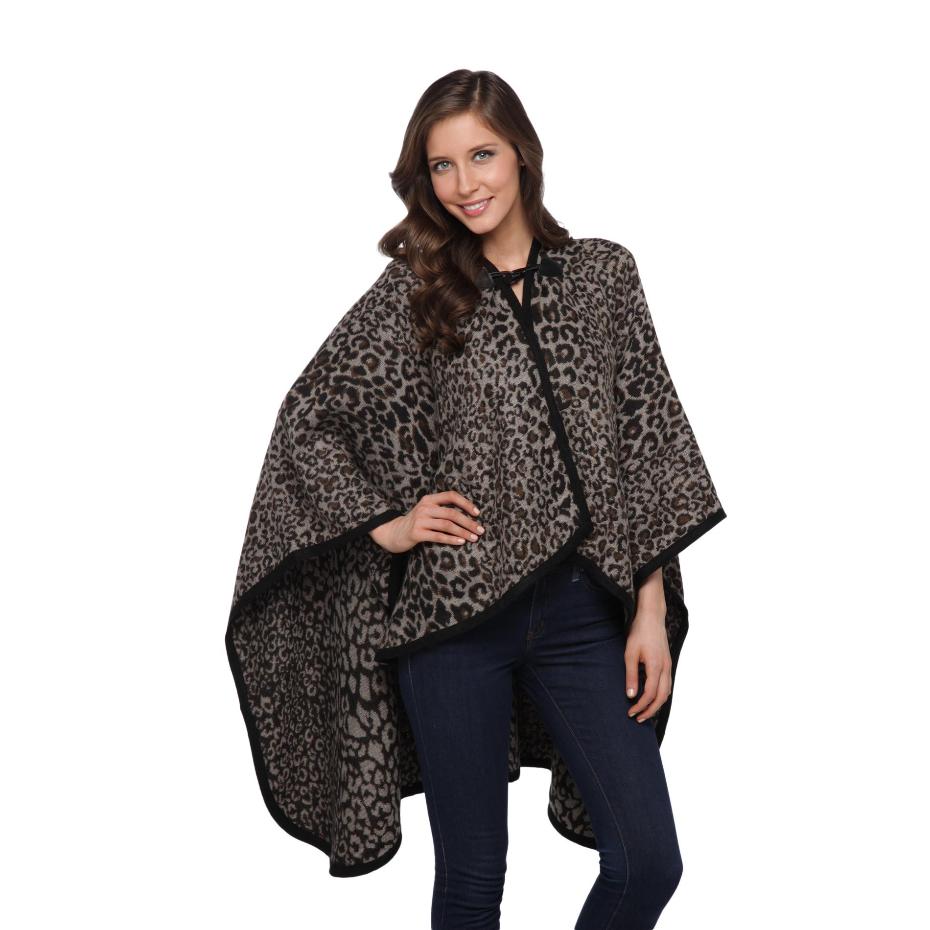 SMNY Women's Cape - Leopard Print at Sears.com