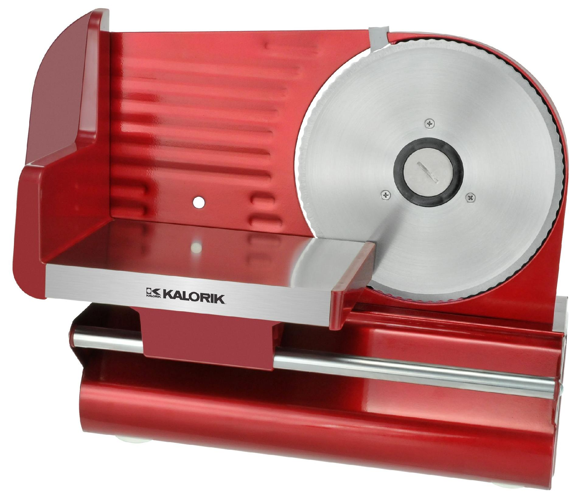 Kalorik Electric Meat Slicer with Red Finish