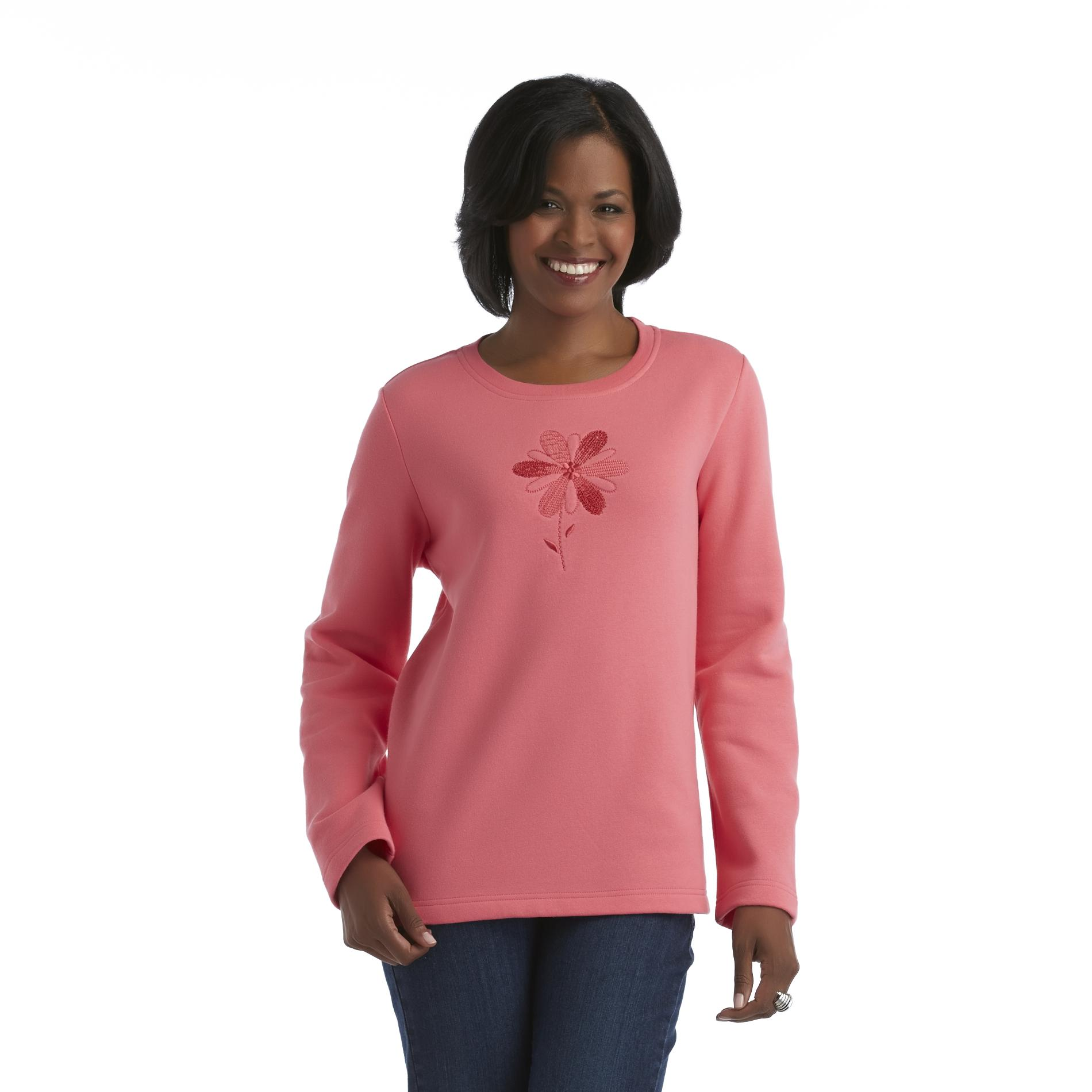 Laura Scott Women's Long-Sleeve Shirt - Flower at Sears.com