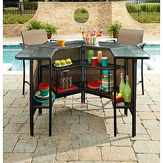 Garden Oasis Harrison 5 Pc Outdoor Bar Set