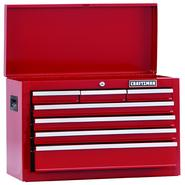 "Craftsman 26"" Wide 7-Drawer Homeowner Top Chest - Red at Kmart.com"