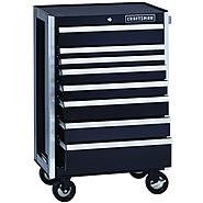 Craftsman EDGE Series 8-Drawer Premium Heavy-Duty Ball-Bearing Rolling Cabinet - Black at Craftsman.com