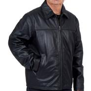 R&O Men's Leather Rugged Open Bottom Leather Jacket  - Online Exclusive at Kmart.com