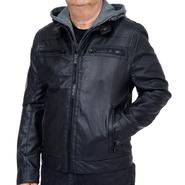 Excelled Men's Faux Leather Motor Cross Jacket - Online Exclusive at Kmart.com