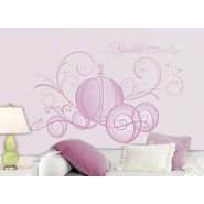 RoomMates Disney Princess  - Scroll Carriage Peel & Stick Giant Wall Decals w/Glitter at Kmart.com