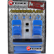 WWE Commentators Playset (Blue) -  Ringside Exclusive Toy Wrestling Action Figure Accessories Pack at Kmart.com
