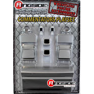 WWE Commentators Playset (Silver) -  Ringside Exclusive Toy Wrestling Action Figure Accessories Pack at Sears.com