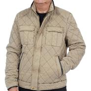 Excelled Men's Cotton Diagonal Quilted Hipster Jacket - Online Exclusive at Kmart.com