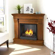Real Flame Chateau Corner Ventless Gel Fireplace in Espresso 38Hx41Wx25D at Sears.com