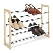 Essential Home Wood and Chrome Expandable Shoe Rack at Kmart.com