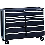 Craftsman EDGE Series 52-In. 11-Drawer Premium Heavy-Duty Ball-Bearing Rolling Cart - Black at Kmart.com