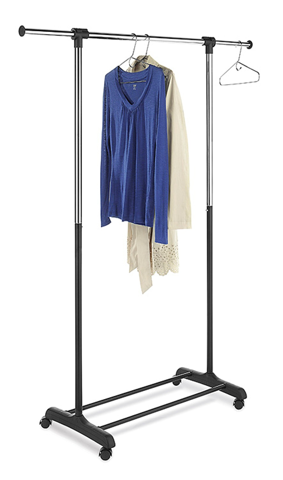 essential home extendable garment rack