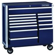 Craftsman EDGE Series 40 In. 13-Drawer Premium Heavy-Duty Ball-Bearing Rolling Cart - Midnight Blue at Sears.com