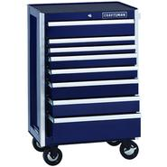 Craftsman EDGE Series 8-Drawer Premium Heavy-Duty Ball-Bearing Rolling Cabinet - Midnight Blue at Kmart.com