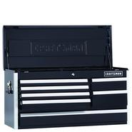 Craftsman EDGE Series 40-In. 7-Drawer Premium Heavy-Duty Ball-Bearing Top Chest - Black at Kmart.com