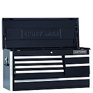 Craftsman EDGE Series 40-In. 7-Drawer Premium Heavy-Duty Ball-Bearing Top Chest - Black at Craftsman.com