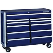 Craftsman EDGE Series 52 In. 11-Drawer Premium Heavy-Duty Ball-Bearing Rolling Cart - Midnight Blue at Sears.com