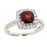Sterlings Silver Cushion Garnet Birthstone Ring at Kmart.com