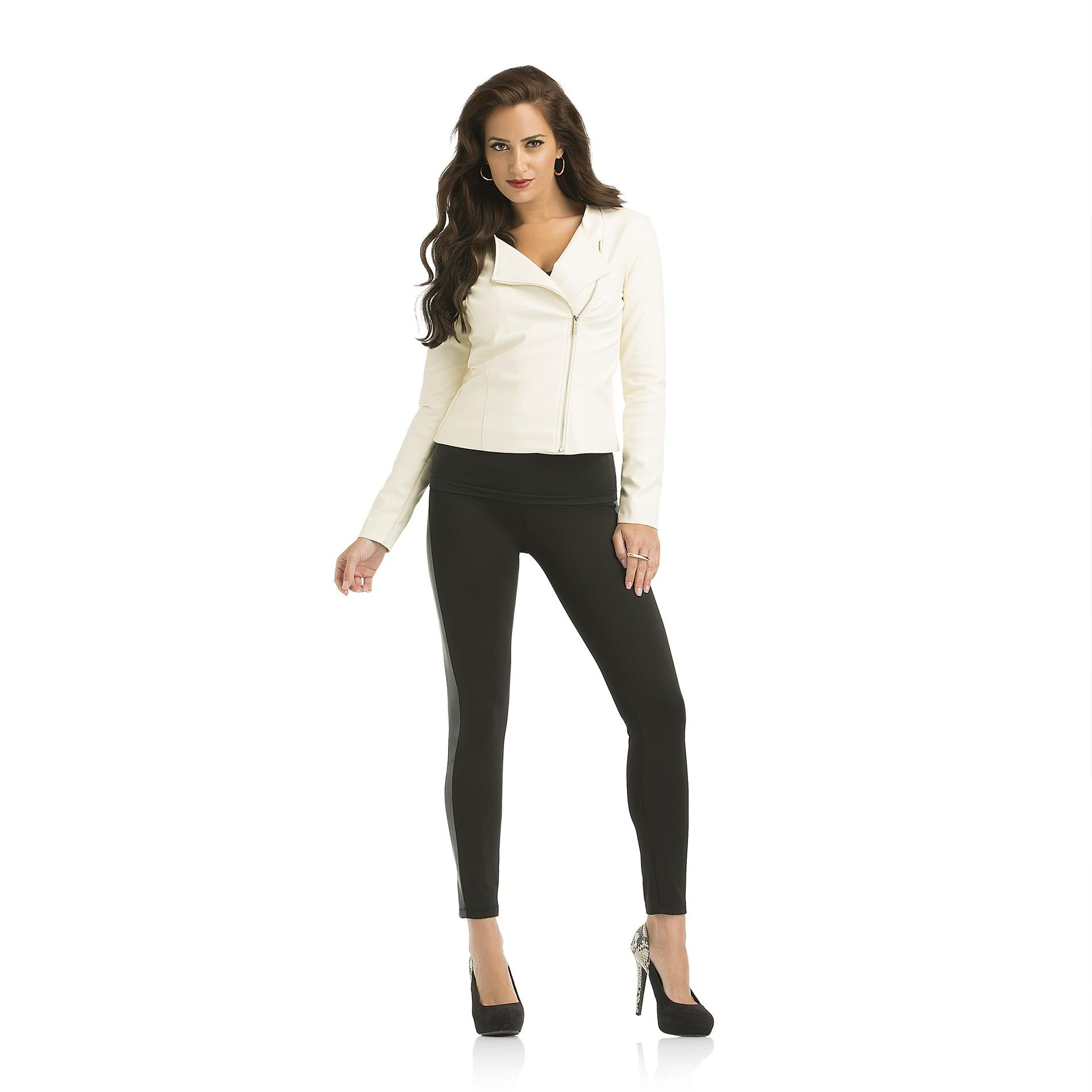 Kardashian Kollection Women's Asymmetrical Biker Jacket - Faux Leather at Sears.com