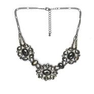 Studio S Women's Rhinestone Floral Bib Necklace at Sears.com